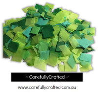 1/2 Cup Tissue Paper Confetti - Green Shades - 0.75 inch Squares  - #CS5