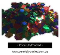 1/2 Cup Tissue Foil Confetti - Rainbow - 0.25 inch Squares  - #CS6