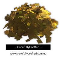1/2 Cup Tissue Foil Confetti - Gold - 0.25 inch Squares  - #CS8