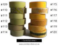 Washi Tape - Yellow - 15mm x 10 metres - High Quality Masking Tape - #109 - #120