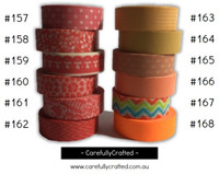 Washi Tape - Orange - 15mm x 10 metres - High Quality Masking Tape - #157 - #168