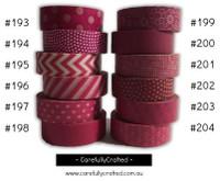Washi Tape - Pink - 15mm x 10 metres - High Quality Masking Tape - #193 - #204
