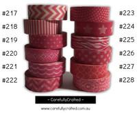 Washi Tape - Pink - 15mm x 10 metres - High Quality Masking Tape - #217 - #228