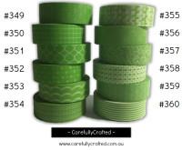 Washi Tape - Green - 15mm x 10 metres - High Quality Masking Tape - #349 - #360