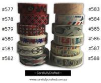 Washi Tape - Rainbow - 15mm x 10 metres - High Quality Masking Tape - #577 - #588