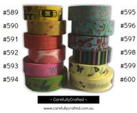 Washi Tape - Rainbow - 15mm x 10 metres - High Quality Masking Tape - #589 - #600