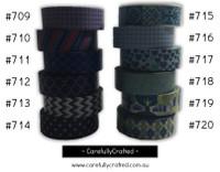 Washi Tape - Blue - 15mm x 10 metres - High Quality Masking Tape - #709 - #720