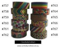 Washi Tape - Rainbow - 15mm x 10 metres - High Quality Masking Tape - #757 - #768
