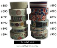Washi Tape - Rainbow - 15mm x 10 metres - High Quality Masking Tape - #889- #900