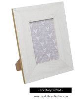 Photo Frame Gold Edge White  - Large