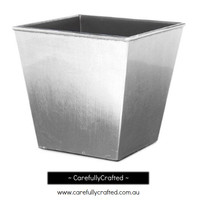 Plastic Planter Square - Silver