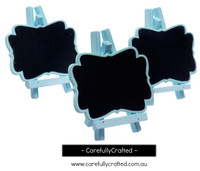 3 Mini Blackboard - Blue