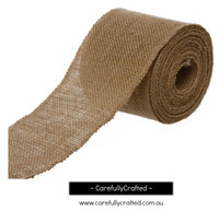 Hessian Burlap Natural Jute Roll - Sewn Edge - 10cm x 10metres