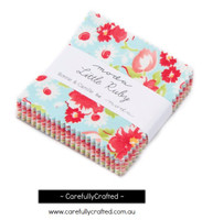 Moda Fabric Precuts Mini Charm Pack - Little Ruby by Bonnie and Camille