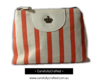 Nautical Fabric Pencil Case - Large - Orange