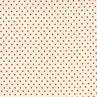 25cm Moda Fabric - Bread N Butter - by American Jane Patterns, Sandy Klop for Moda Fabrics - Red Polka Dot #21697-17