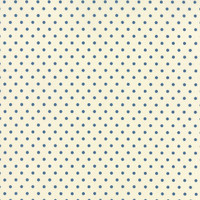 25cm Moda Fabric - Bread N Butter - by American Jane Patterns, Sandy Klop for Moda Fabrics - Blue Polka Dot #21697-13