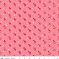 Riley Blake Fabric - Cozy Christmas - Lori Holt - Pink #C5364