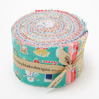 Riley Blake Fabric - Cozy Christmas - Lori Holt - Rolie Polies