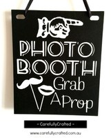 Photo Booth Sign - Grab a Prop