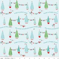 Riley Blake Fabric - Pixie Noel - Tasha Noel - Aqua #5251