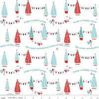 Riley Blake Fabric - Pixie Noel - Tasha Noel - White #5251