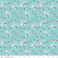 Riley Blake Fabric - Pixie Noel - Tasha Noel - Aqua #5252