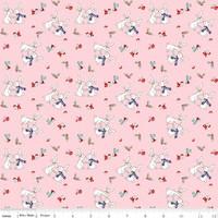 Riley Blake Fabric - Pixie Noel - Tasha Noel - Pink #5252