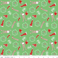 Riley Blake Fabric - Pixie Noel - Tasha Noel - Green #5253