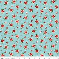Riley Blake Fabric - Pixie Noel - Tasha Noel - Aqua #5254