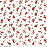 Riley Blake Fabric - Pixie Noel - Tasha Noel - White #5254