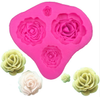 Flower Rose  4 cavity  Silicone Mold Set