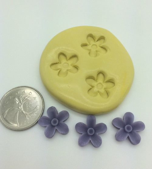 Mini Violet Flower Silicone Mold Set