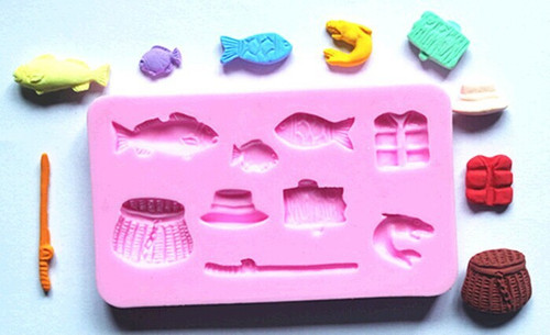 Gone Fishing Father's Day 9pc Silicone Mold Set