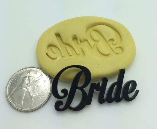 Bride  Word Wedding Silicone Mold