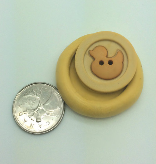 Baby  Duck Button  Silicone Mold