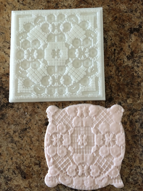 Impression Lace Silicone Mold Mat #2