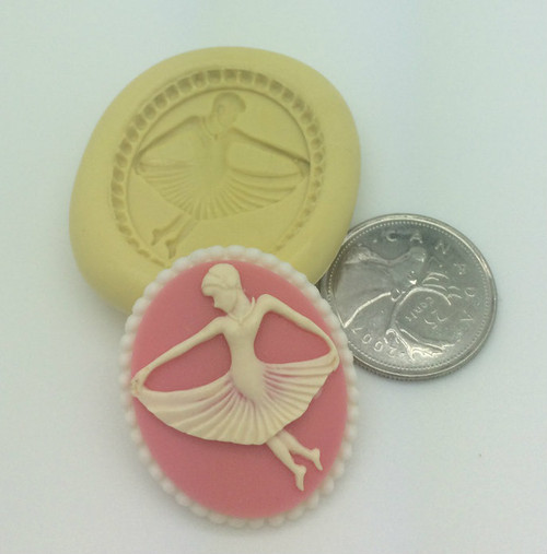 Dancer Lady Cameo Silicone Mold