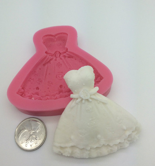 Large Party Dress Wedding  Silicone Mold