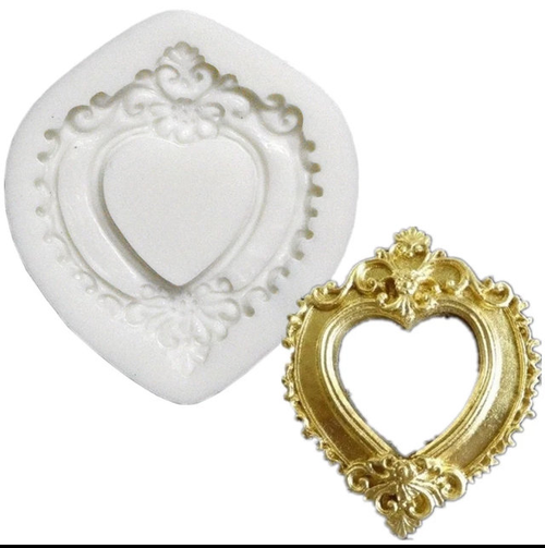 Heart shape frame Silicone Mold