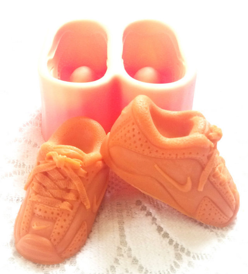 Xl  3d Sneakers Baby Shoe Silicone Mold