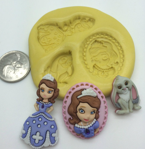 Sofia Princess Set Silicone Mold