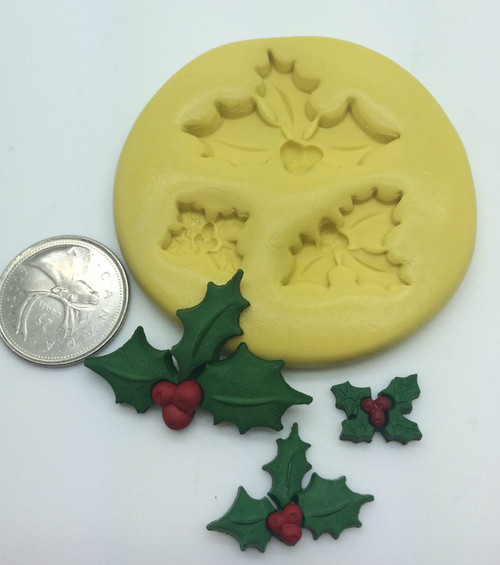 Christmas Holly Silicone Mold