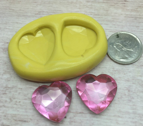 Gem Hearts  Silicone Mold