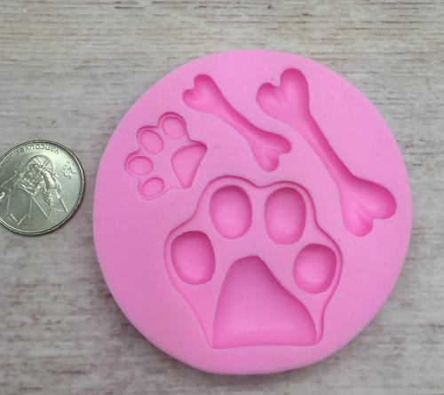 Paw and Bone Silicone Mold Set