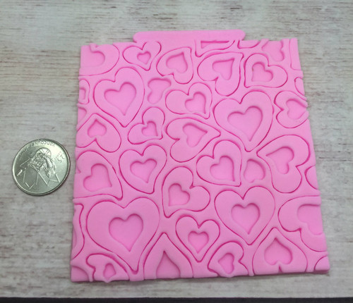 Impression Heart Silicone Mold Mat