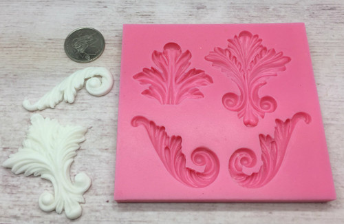 Decorative Leaves Silicone Mold Set