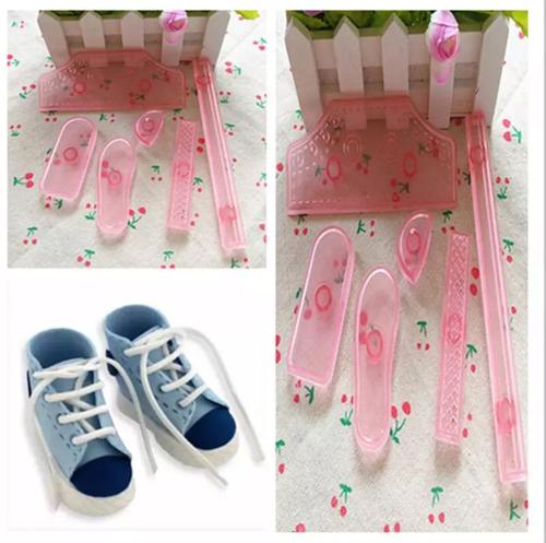 Small High Cut Sneaker Shoe 6pc Cutter set