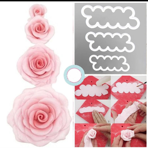 Easy Rose 3pc Cutter Set Small, Medium and Large