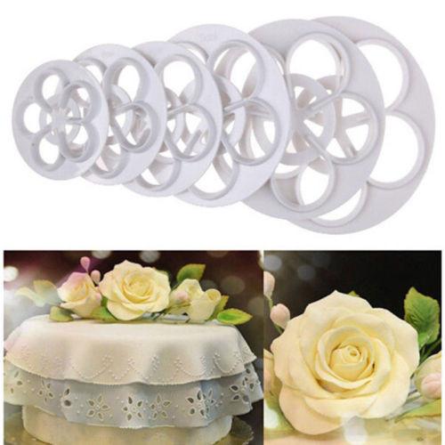 Rose Flower Cutter Set 6pc